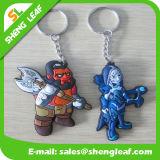 파란 축구 선수 고무 2D/3D Rubbier Keychains