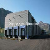 Zwischenlage-Panel-Stahlkonstruktion-Werkstatt mit dem Rollen herauf Tür