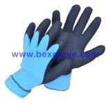 Gant de latex chaud à l'hiver, gant de travail