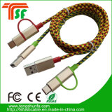 Hot Sales 3in1 USB Charger Cable avec éclairage, micro, type-C