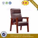 標準的なオフィス用家具の黒カラー木の革訪問者の椅子(NsCF032)