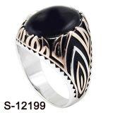 925 de echte Zilveren Ring van Juwelen voor de Mens