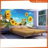 Niedrigster Preis passte Sonnenblume-Entwurfs-Tapete/Ölgemälde an