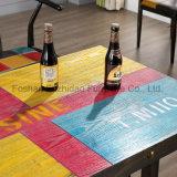 Tabella pranzante Colourful di legno per uso domestico del ristorante