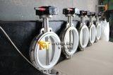 Asiento de PTFE válvula de mariposa de la oblea de los Ss de la palanca de engranaje del diseño de la carrocería de 1 pedazo