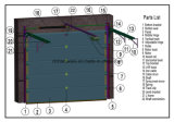 Volles Anblick-Panel-industrielle Tür/obenliegende geschnittentür