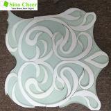 Мрамора плитки арабескы мозаика Polished водоструйного кристаллический белого смешанная стеклянная для стены