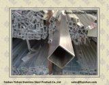 201 carré du tuyau d'ornement en acier inoxydable