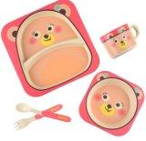 BPA geben Eco Bambusfaser-Kind-Abendessen-Set frei (YK-KS0012)