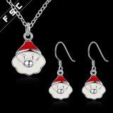 Großhandelsform-Entwurfs-Weihnachtsmann-Halsketten-Ohrring-Schmucksache-Set