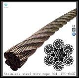 6X19 Corde à fil en acier inoxydable Iwrc 304