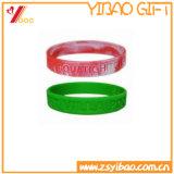 Le vendite calde hanno personalizzato il braccialetto del silicone con il marchio