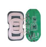 3 bobinas Qi Carro Carregador sem fio Carregador Rápido