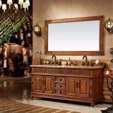 Деревенский шкаф тщеты двойника мебели ванной комнаты типа (GSP14-041)