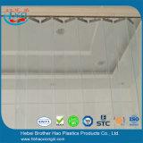 Hojas plásticas de desplazamiento transparentes de la cortina de la tira de la puerta del PVC del verde de la calidad del alcance