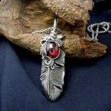 Pluma joyería de moda colgante de acero inoxidable 316L Collar