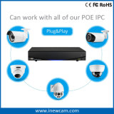 Video de la red de Onvif 1080P 4CH Poe P2p