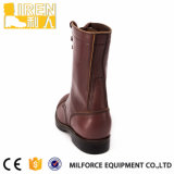 De bruine Laarzen van het Gevecht van de Kleur Militaire