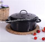 ハンドルが付いている炭素鋼のエナメルの鍋かカセロール