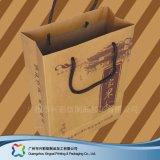 Envases de papel Kraft personalizada Bolsa Bolsa de compras bolsa de ropa (XC-bgg-005).