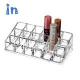 Effacer le stockage de maquillage cosmétiques 18 trous de l'organiseur de l'acrylique rouge à lèvres afficher