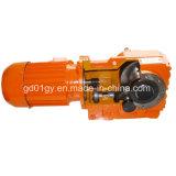 Motor de engrenagem helicoidal de ângulo reto da série Gk para transportadores de parafuso