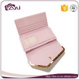 Бумажник габарита портмона монетки PU розового бумажника женщин цвета кожаный с владельца карточки