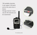 Receptor de áudio sem fio com fone de ouvido