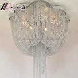 La elegancia moderna lámpara de techo de hierro de la cadena de Hotel