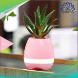 Potenciômetro de flores de música inteligente LED Design bonito Mini sem fio Bluetooth Flower Pot Altifalante Criativo