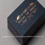 Lámina para gofrar caliente del papel de hoja de oro para los rectángulos de tarjeta conocida