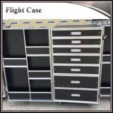 Serviço Pesado resistente de alumínio personalizada caso de voo com gavetas