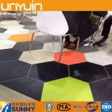 étage confortable de vinyle de PVC d'hexagone de 3mm