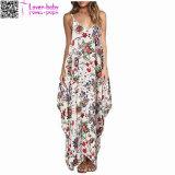 Impressão Floral V Pescoço Cinta Spaghetti Maxi Dress L51413