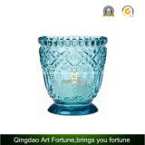 Soporte de velas de vidrio para decoración navideña