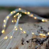 Rattan Multi Strands Plug in Starry String Lights Warm White Color Led sur un fil de cuivre flexible 120 Leding Monté individuellement, 20FT
