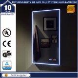 Espelho iluminado diodo emissor de luz fixado na parede decorativo do banheiro de Bluetooth