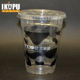 Tazza di plastica degli Smoothies a gettare dell'animale domestico stampata abitudine 12oz con i coperchi