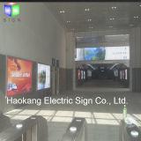 LED boîte à lumière LED étanche tissu pancarte de la publicité pour signer l'aéroport
