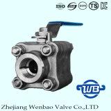 Wb-01 A105 forjó la vávula de bola de alta presión de acero 3000psi