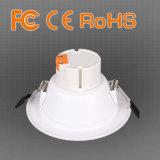 O diodo emissor de luz branco e Polished do alumínio 4/6/8/10/12/15/18/24W ilumina-se para baixo