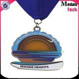 Medaglia mezza di maratona della spiaggia del metallo di alta qualità 21km di modo con la sagola