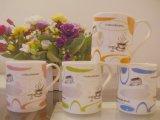 Nuovo disegno una grande capacità delle 14 once delle tazze di ceramica del latte