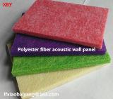 panneau insonorisant de décoration de panneau de plafond de panneau de mur d'écran antibruit de panneau d'animal familier de panneau de fibre de polyester 3D