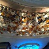 Manier en de Ronde Grote Lamp van het Plafond van het Glas van de Grootte met Hal
