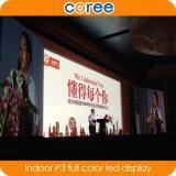 Alta pantalla a todo color de interior de la definición SMD P3 LED