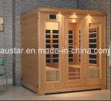 Sauna infravermelha de madeira maciça com tamanho personalizado (AT-0925)