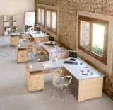 Modern Houten L-vormig Uitvoerend Bureau met het Kabinet van de Ondeugd (sz-WSE27)