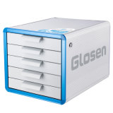 5 het Kabinet van de Opslag van het Dossier van het Bureau van de Desktop van het Aluminium van laden met Slot