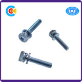 DIN/ANSI/BS/JIS Stainless-Steel Carbon-Steel/4.8/8.8/10.9 croix les vis de combinaison d'angle en acier galvanisé pour la construction/Railway